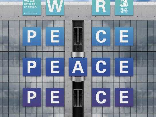 Peace One Day Outdoor Ad - War Will Never be an Option