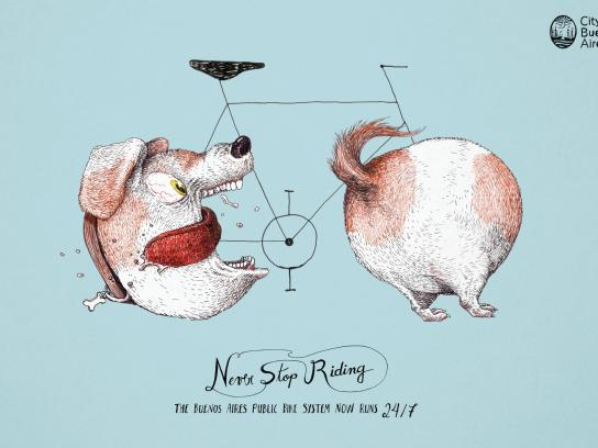 City of Buenos Aires Print Ad -  Never stop riding, 2