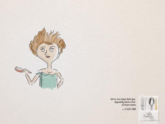 Villa Fontana Print Ad -  Hair