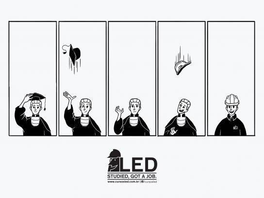 LED Print Ad -  Hat
