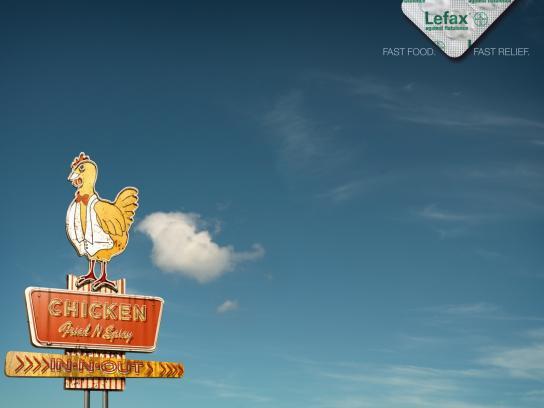 Enzym Lefax Print Ad -  Fast food flatulence, Chicken