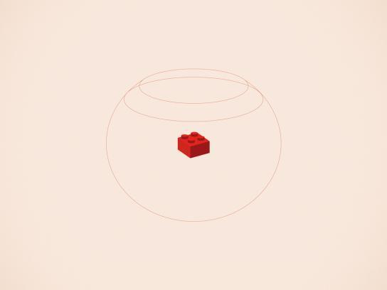Lego Print Ad -  Goldfish