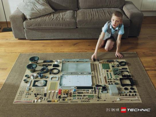 Lego Print Ad -  Living room