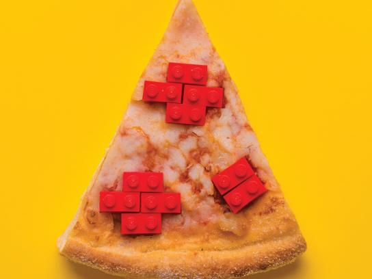 Legoland Print Ad - Child Imagination is Important, Just Like Food! - Pizza