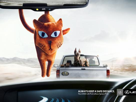 Lexus Print Ad -  Keep a safe distance, 1