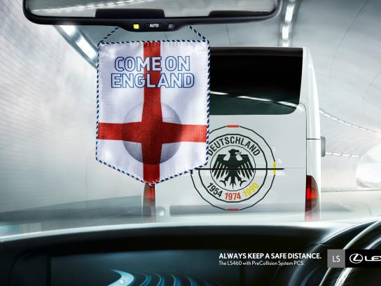 Lexus Print Ad -  Keep a safe distance, 3