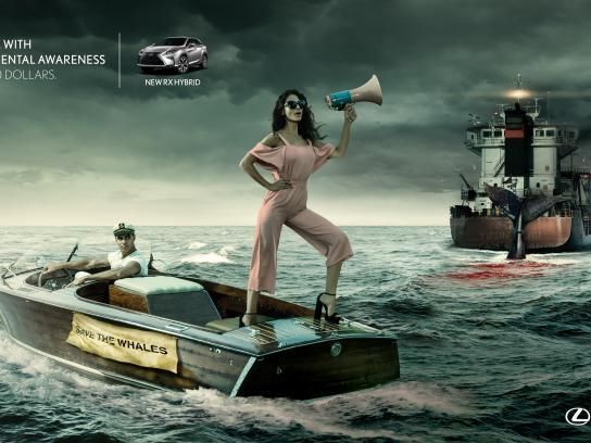 Lexus Print Ad - Whale