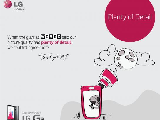 LG Print Ad -  Plenty of detail