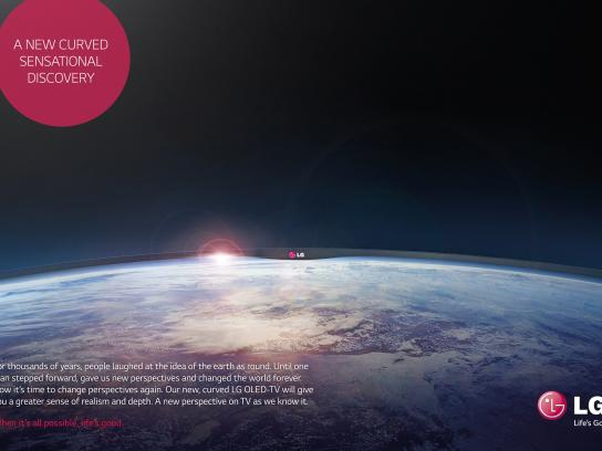 LG Print Ad -  A new curved sensational discovery