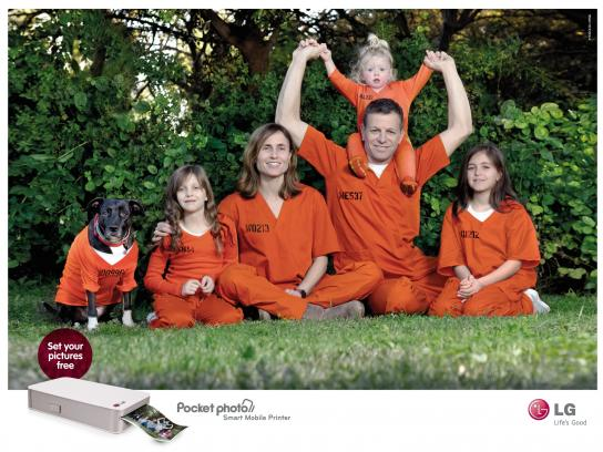 LG Print Ad -  Set your picture free