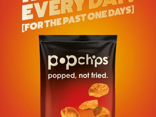 Popchips Print Ad -  Be a bit good, 3