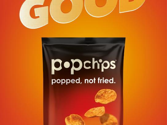 Popchips Print Ad -  Be a bit good, 1
