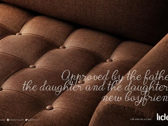 Lider Interiores Print Ad -  Life asks for a Lider, Father