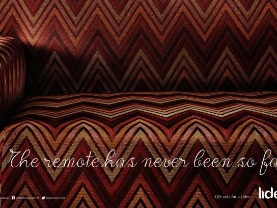 Lider Interiores Print Ad -  Life asks for a Lider, Remote