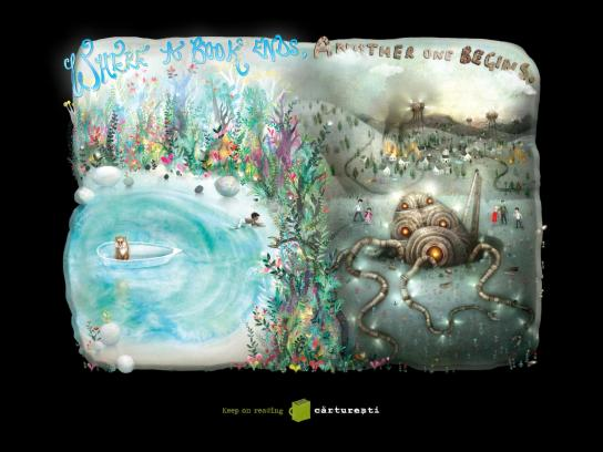 Carturesti Book Store Print Ad -  Life of the Worlds
