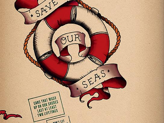 Surfers Against Sewage Print Ad -  Save our seas