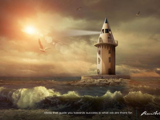 Pencil Wings Print Ad - Lighthouse