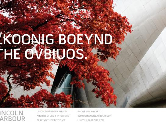 Lincoln Barbour Photo Print Ad -  Looking beyond