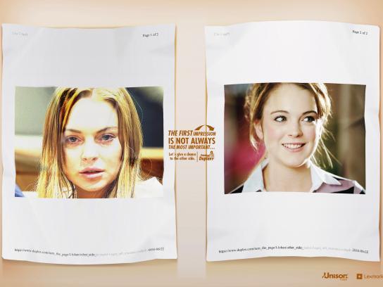 Lexmark Print Ad - Lindsay Lohan