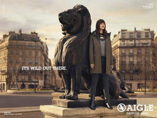 Aigle Print Ad -  Lion