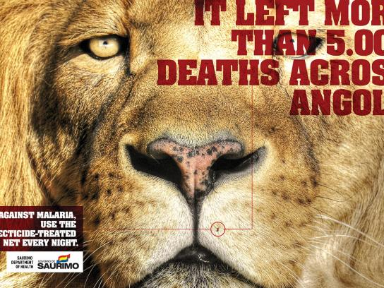 Saurimo Department of Health Print Ad -  Lion