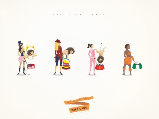 Noah's Ark Creative Print Ad -  Lion Tamer