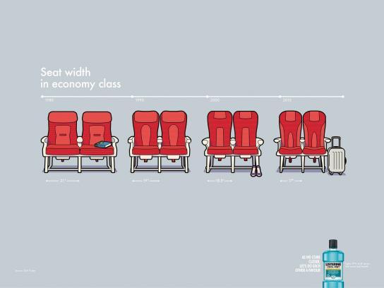 Listerine Print Ad - Plane