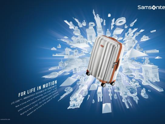 Samsonite Print Ad - For life in motion, 2