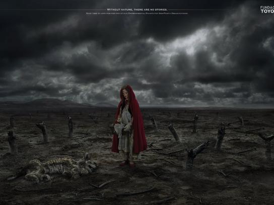 Toyota Print Ad -  Little Red Riding Hood