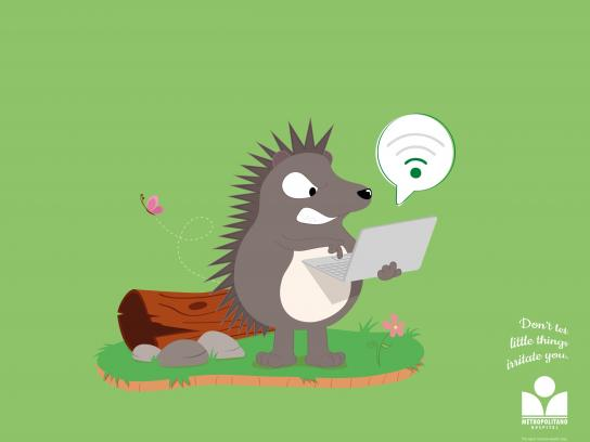 Hospital Metropolitano Print Ad -  Little Things, Porcupine