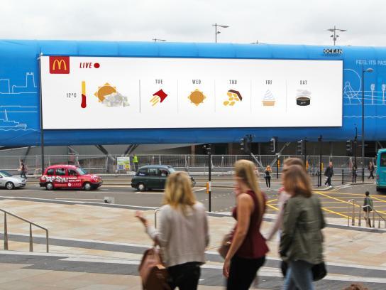 McDonald's Outdoor Ad - Weather-Reactive Outdoor