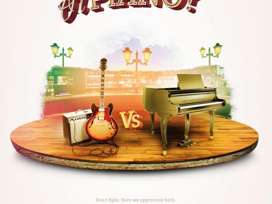 Liverpub Print Ad -  Guitar or Piano