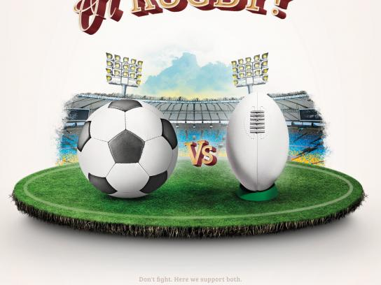 Liverpub Print Ad -  Football or Rugby