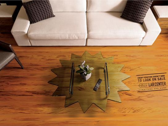 Lar Center Print Ad -  Living Room