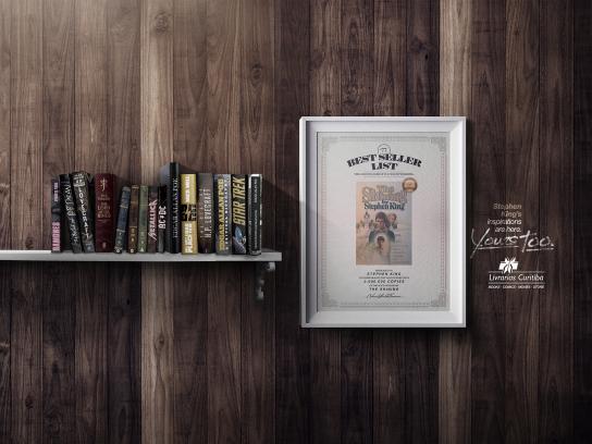 Livrarias Curitiba Print Ad -  Stephen King