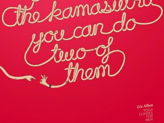 Liz Allan Yoga Print Ad - Kamasutra