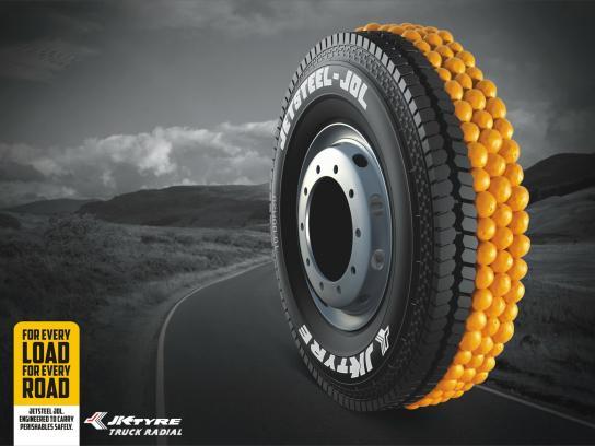 JK Tyre Print Ad -  Oranges
