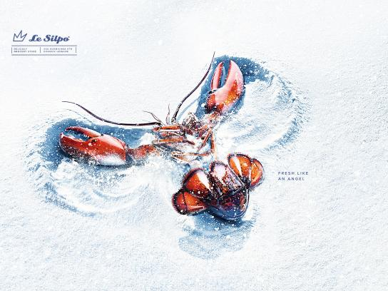 Le Silpo Delicacy Grocery Store Print Ad - Snow angel