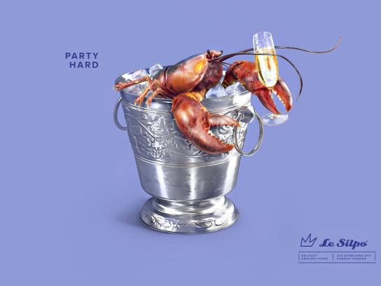 Le Silpo Delicacy Grocery Store Print Ad - Lobster