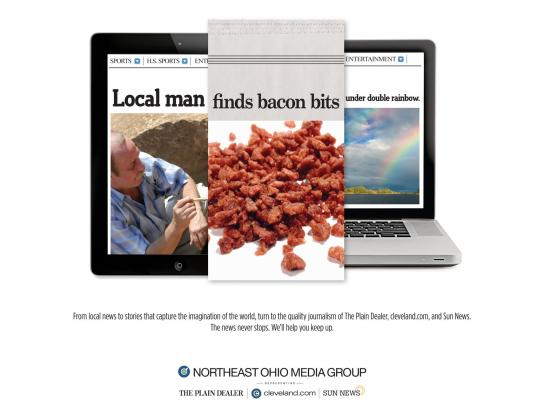 Northeast Ohio Media Group Print Ad -  Local-Bacon-Rainbow