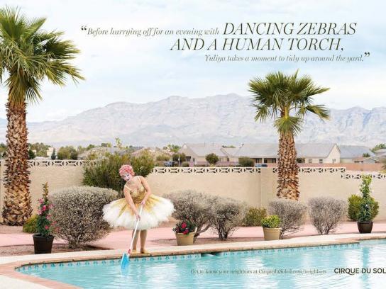 Cirque Du Soleil Print Ad - Swimming pool