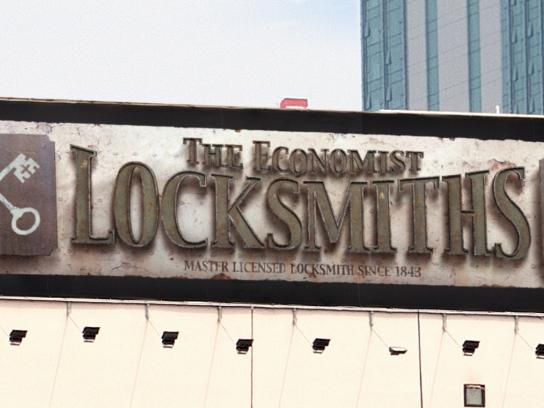 The Economist Outdoor Ad -  Signs, Locksmith