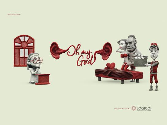 Lógico Sound Production Print Ad - Oh my God