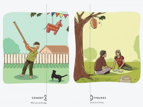 Comedy Central Outdoor Ad -  Logo, Piñata