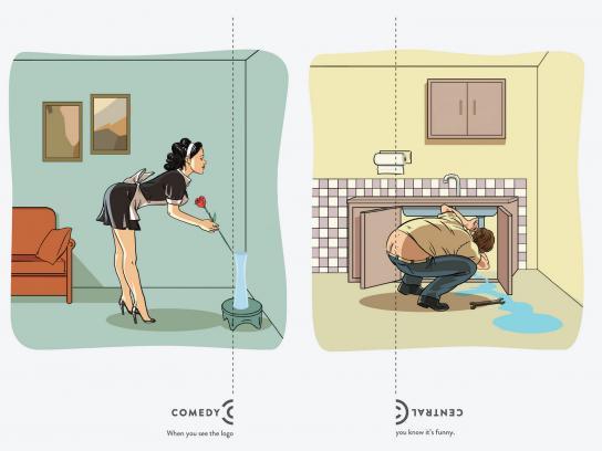 Comedy Central Outdoor Ad -  Logo, Maid