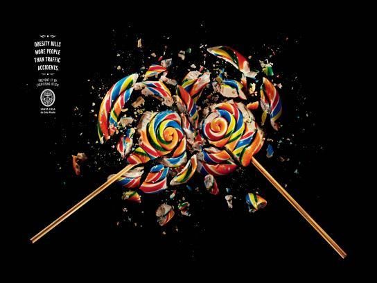Santa Casa de Misericórdia Outdoor Ad -  Lollypop