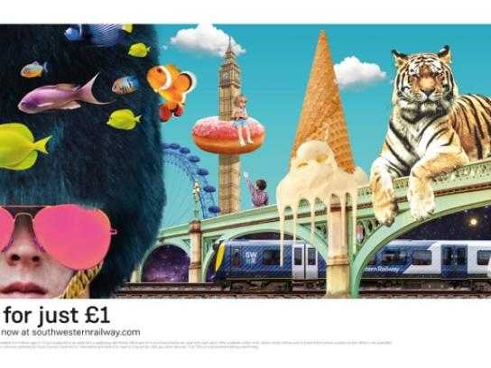 South Western Railway Print Ad - Live Big, 2