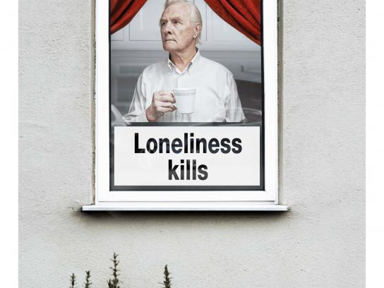 Alone Print Ad -  Loneliness kills