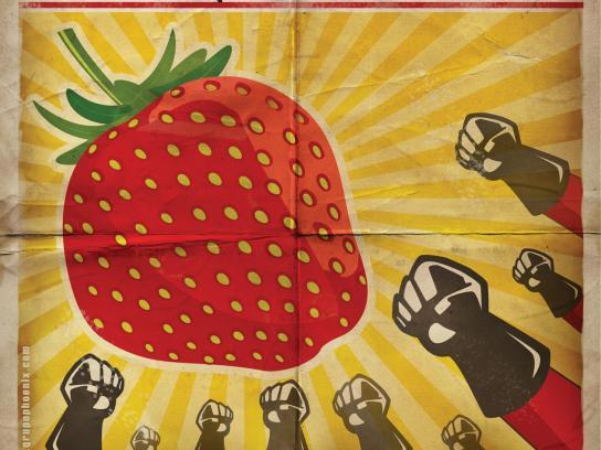Grupo Phoenix Print Ad -  Strawberry