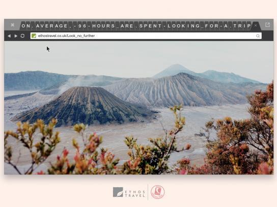 Ethos Travel Print Ad - Volcano